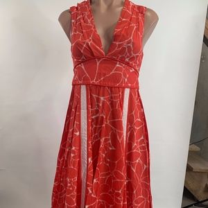 Marc by Marc Jacobs Red Abstract Dress Size 0